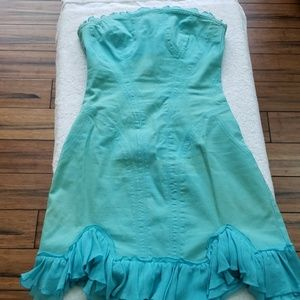 Versace pastel blue dress.